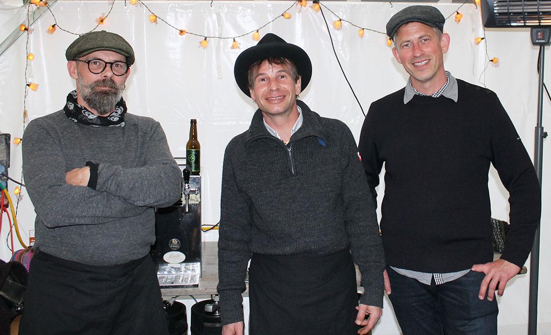 La Brasse-Mortier, de Romainmôtier, spécialisée dans les bières anciennes. A g., le brasseur Fabrice Tournelle