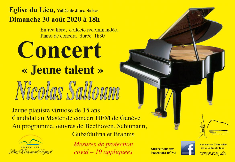 Concert «jeune talent» avec le pianiste Nicolas Salloum